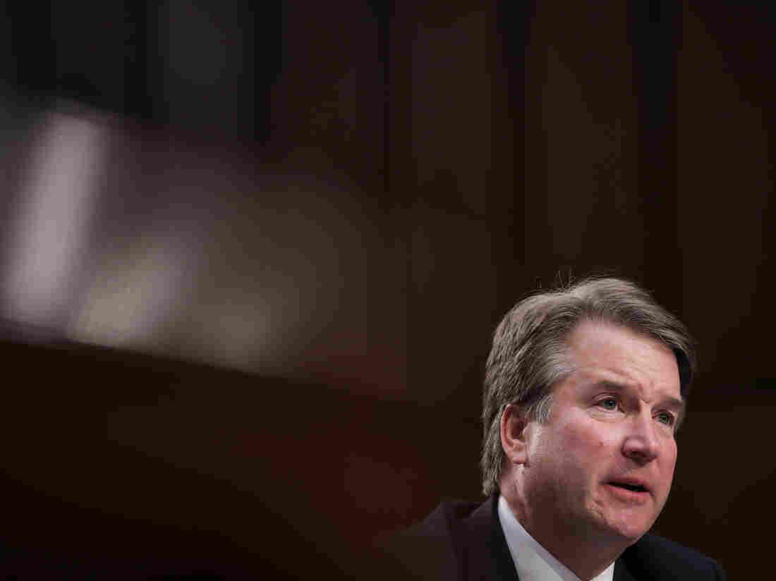 Trump defends his Supreme Court nominee, wants accuser to testify