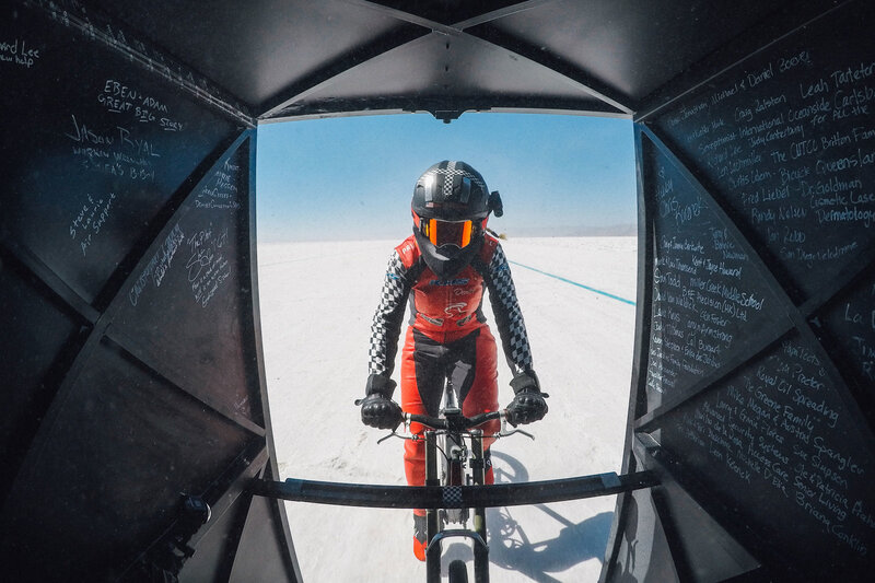 World Record  Woman Rides Bicycle To 183.9 MPH   NPR b3297ad4a