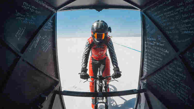 Woman Rides Bicycle To 183.9 MPH — A New World Record