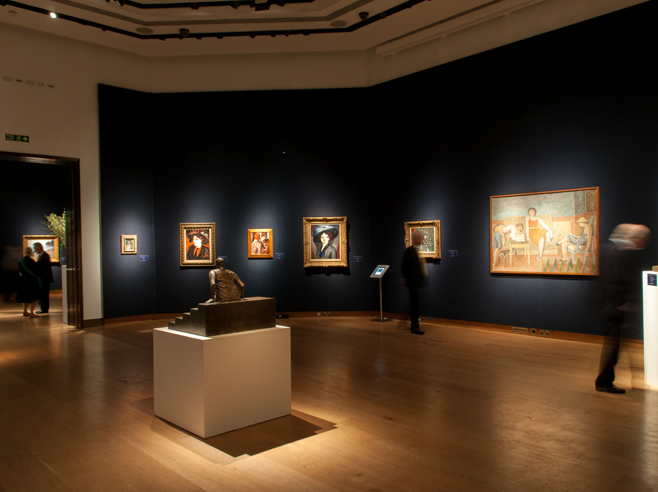 Christie's exhibition space in King Street, London, United Kingdom. Exhibition of impressionists artworks in June 2014. (Lionel Derimais/Getty Images)