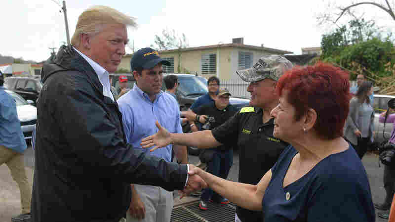 In Hurricane's Wake, Trump Again Tackles Uneasy Role As 'Consoler-In-Chief'