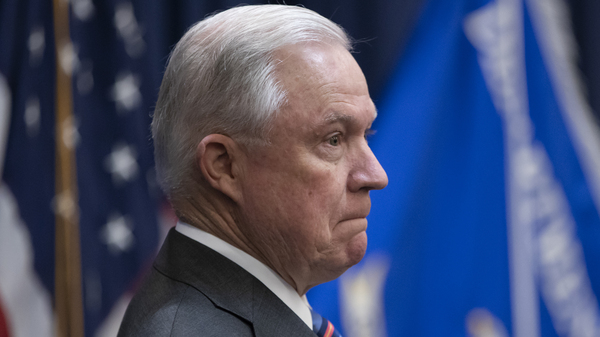 Attorney General Jeff Sessions at an event discussing immigration policies on Sept. 10. President Trump said on Tuesday that he