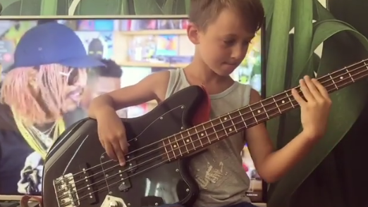 Watch A 7-Year-Old Bassist Play Along With Mac Miller