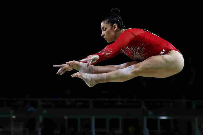 Aly Raisman competes on the balance beam during the Women's Individual All Around Final on Day 6 of the 2016 Rio Olympics.
