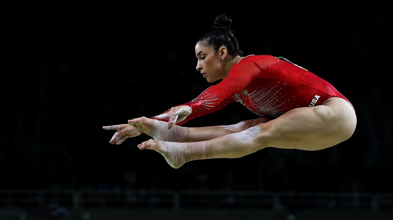 Aly Raisman Competes On The Balance Beam During Womens Individual All Around Final Day
