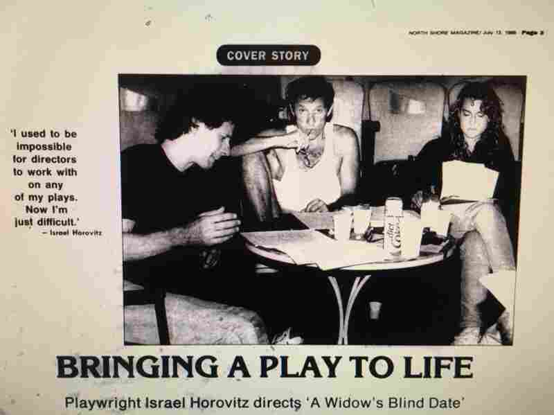 In 1989, The Gloucester Daily Times reviewed 'The Widow's Blind Date,' written by Israel Horovitz (center). It's a play that depicts a woman confronting her rapists. Jocelyn Meinhardt (right), who worked on the play at the time, says she was sexually assaulted by Horovitz.