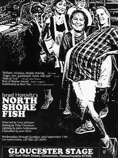 Poster for Israel Horovitz's production of 'North Shore Fish,' starring Laura Crook. Crook accused Horovitz of sexual harassment in 1993.