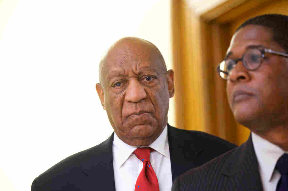 Bill Cosby charged with sexual harassment arrives at court for hearing