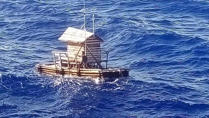 19 year old survives 49 days at sea after floating hut drifts to