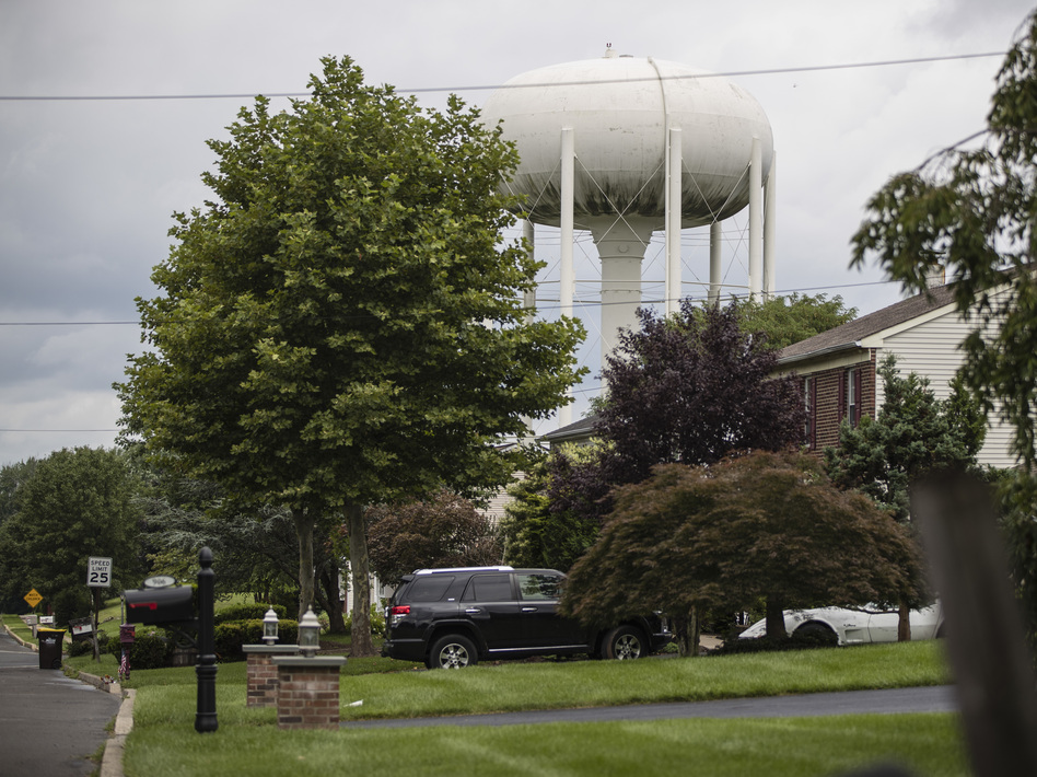 Horsham, Pa., is one of many towns around the country grappling with potentially harmful chemicals in its water. They're known as PFAS, and they're linked to cancer and other illnesses. (Matt Rourke/AP)