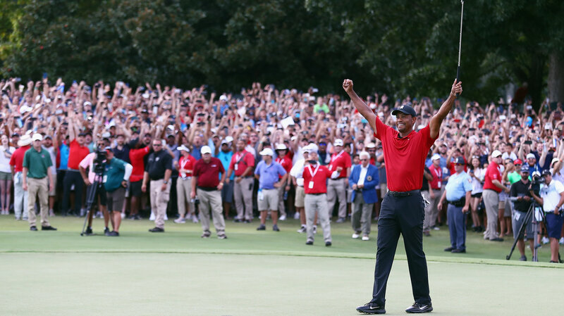tiger woods wins first golf tournament since 4 back surgeries npr