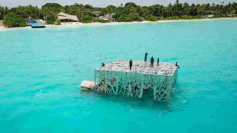 Maldives Police Use Pickaxes To Destroy Artwork Deemed Un-Islamic