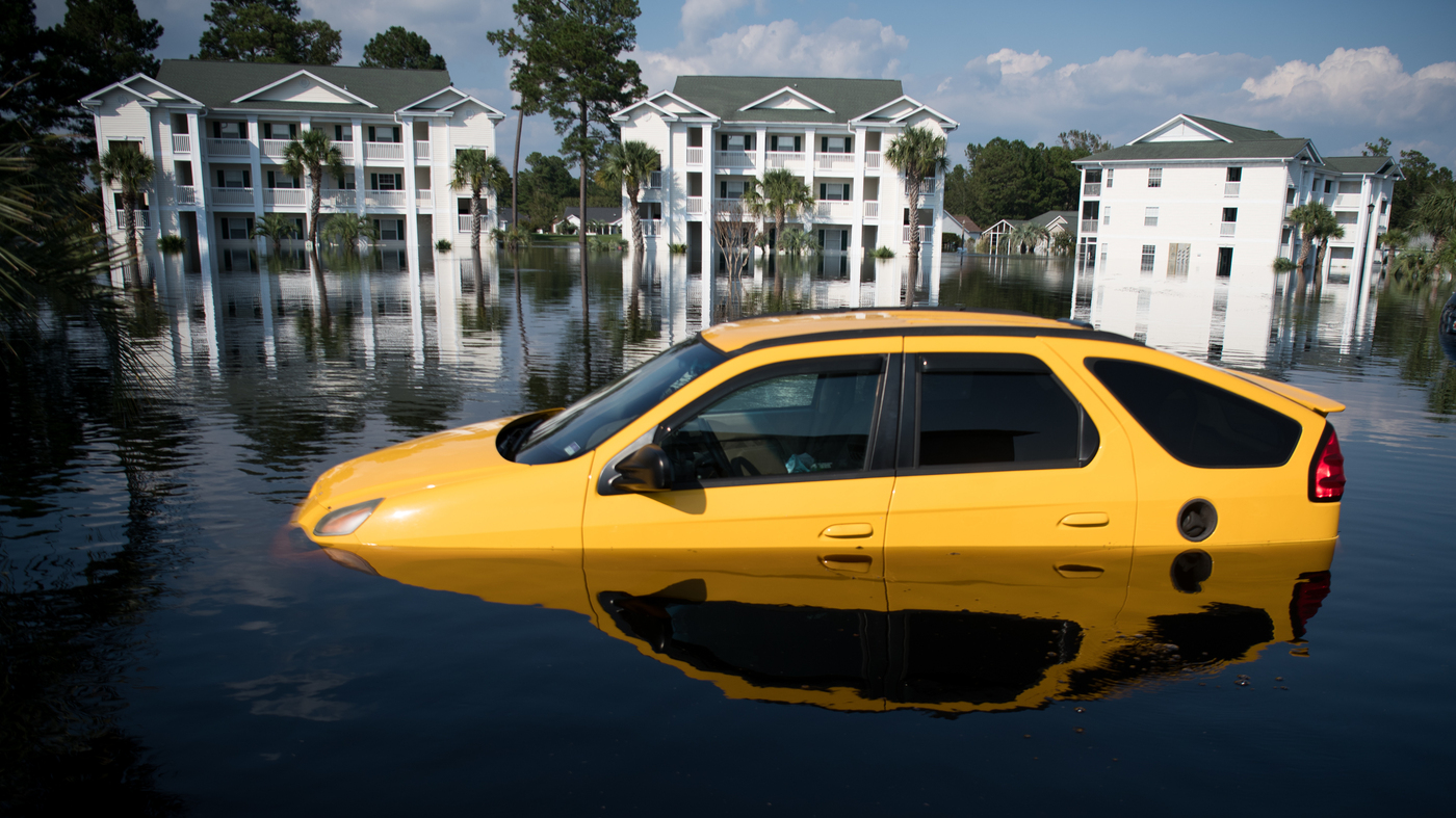 Florence Floodwaters Total Thousands Of Cars, Stranding Locals : NPR
