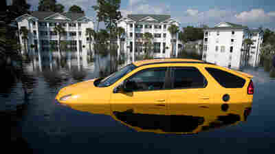 Florence Floodwaters Total Thousands Of Cars, Stranding Locals