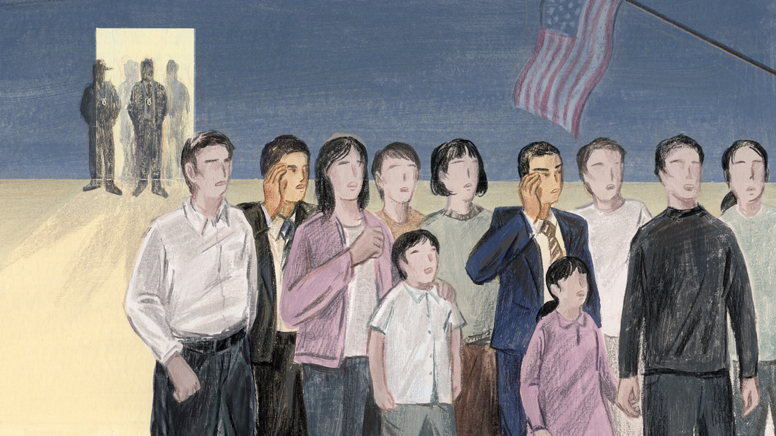 NPR's Planet Money has learned that more than 13,500 immigrants, mostly Chinese, who were granted asylum status years ago by the U.S. government are now facing possible deportation. During a 2012 probe, prosecutors in New York rounded up 30 immigration lawyers, paralegals, and interpreters who had helped Chinese immigrants fraudulently obtain asylum.