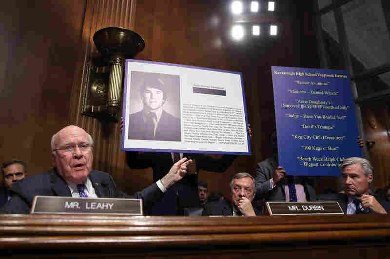 Sen. Patrick Leahy, a Democrat from Vermont, speaks during the hearing.