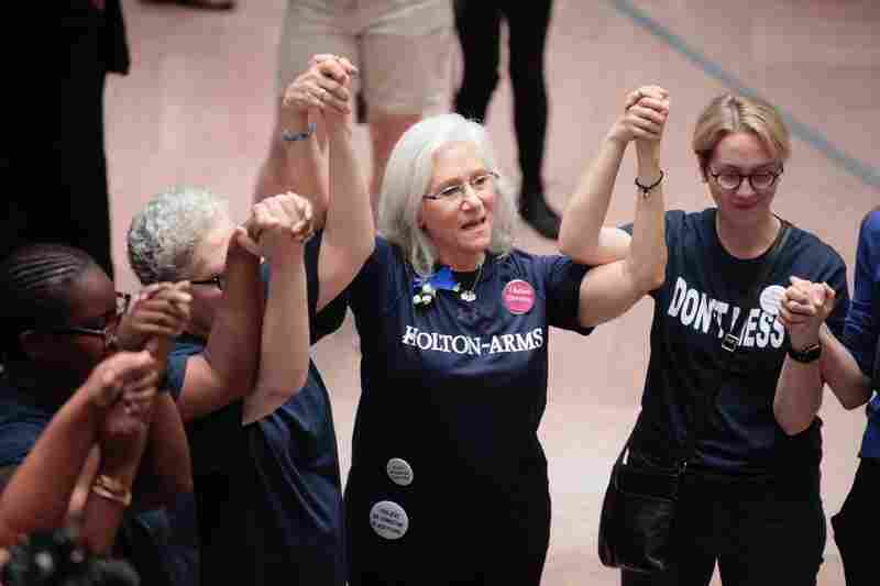 Holton Arms alumnae supporting each other and Ford in the Hart Senate Building.