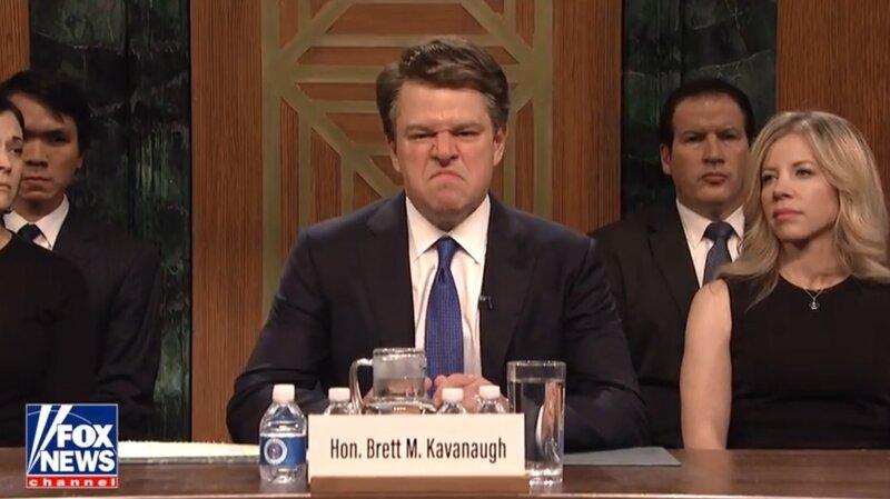 ebf5598bea43 Matt Damon Is A Sniffing, Shouting Brett Kavanaugh On 'SNL' Season  Premiere. Facebook; Twitter; Flipboard