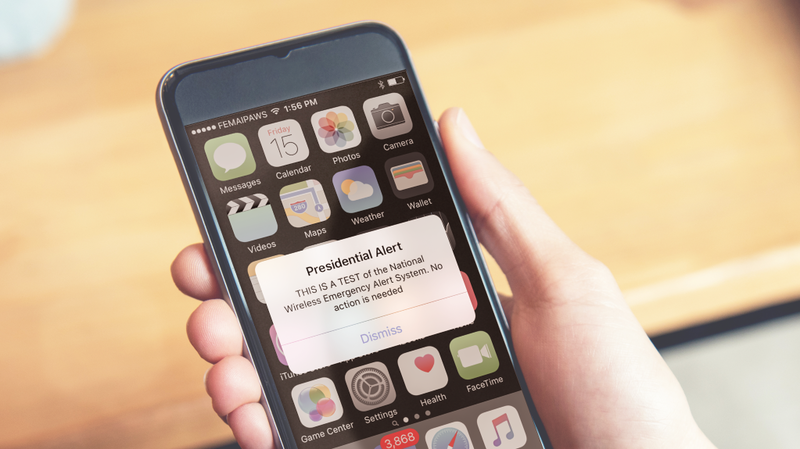 Use Your Cellphone To Text 10 To >> Presidential Alert Message Sent Wednesday It Was Only A Test Npr