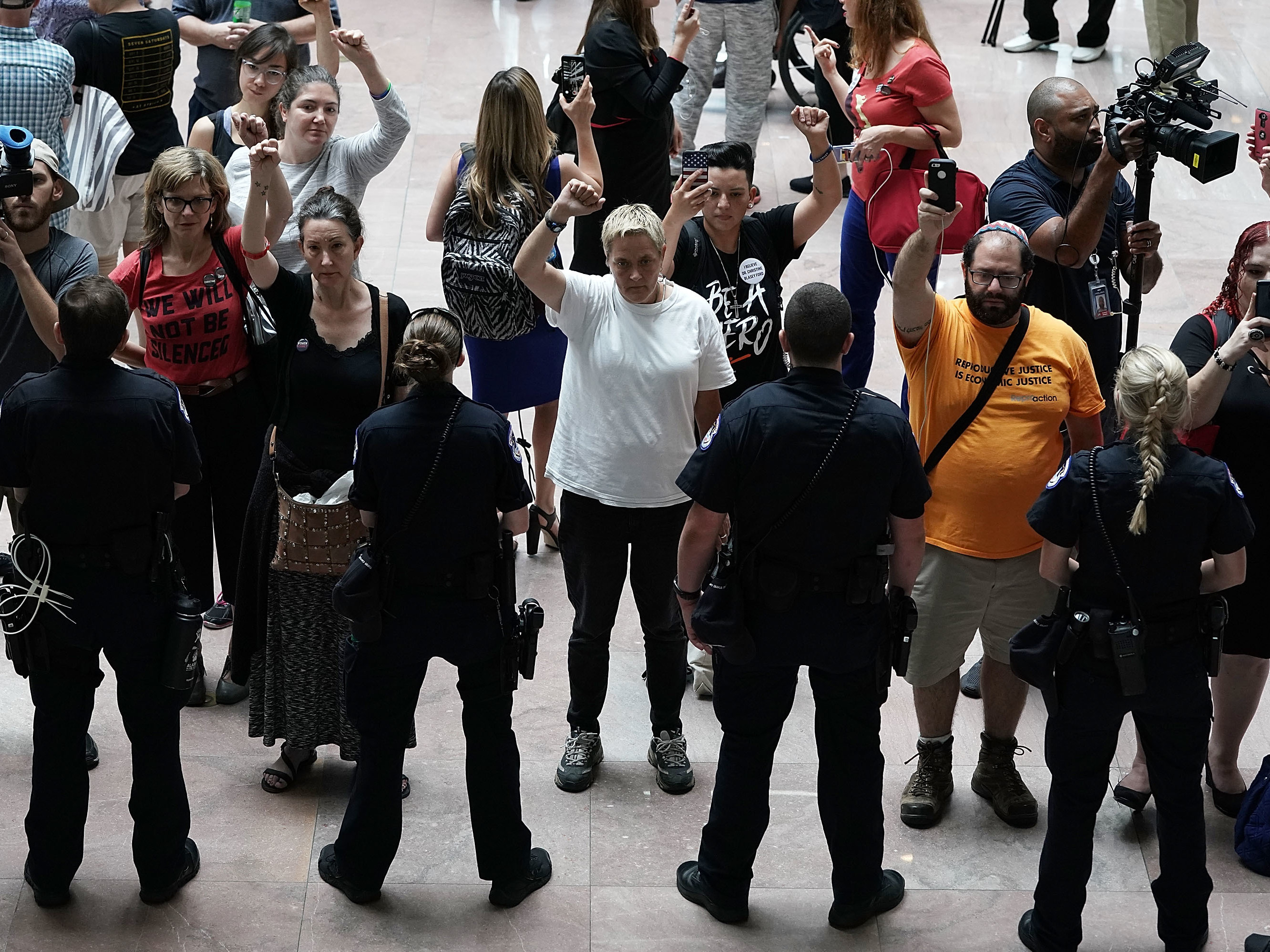Senate To Get Fbi Report On Kavanaugh Setting Up Finale In Confirmation Watch And Latest News Judiciary Committee Activists Chant During A Protest Outside The Office Of Chairman Chuck Grassley Iowa