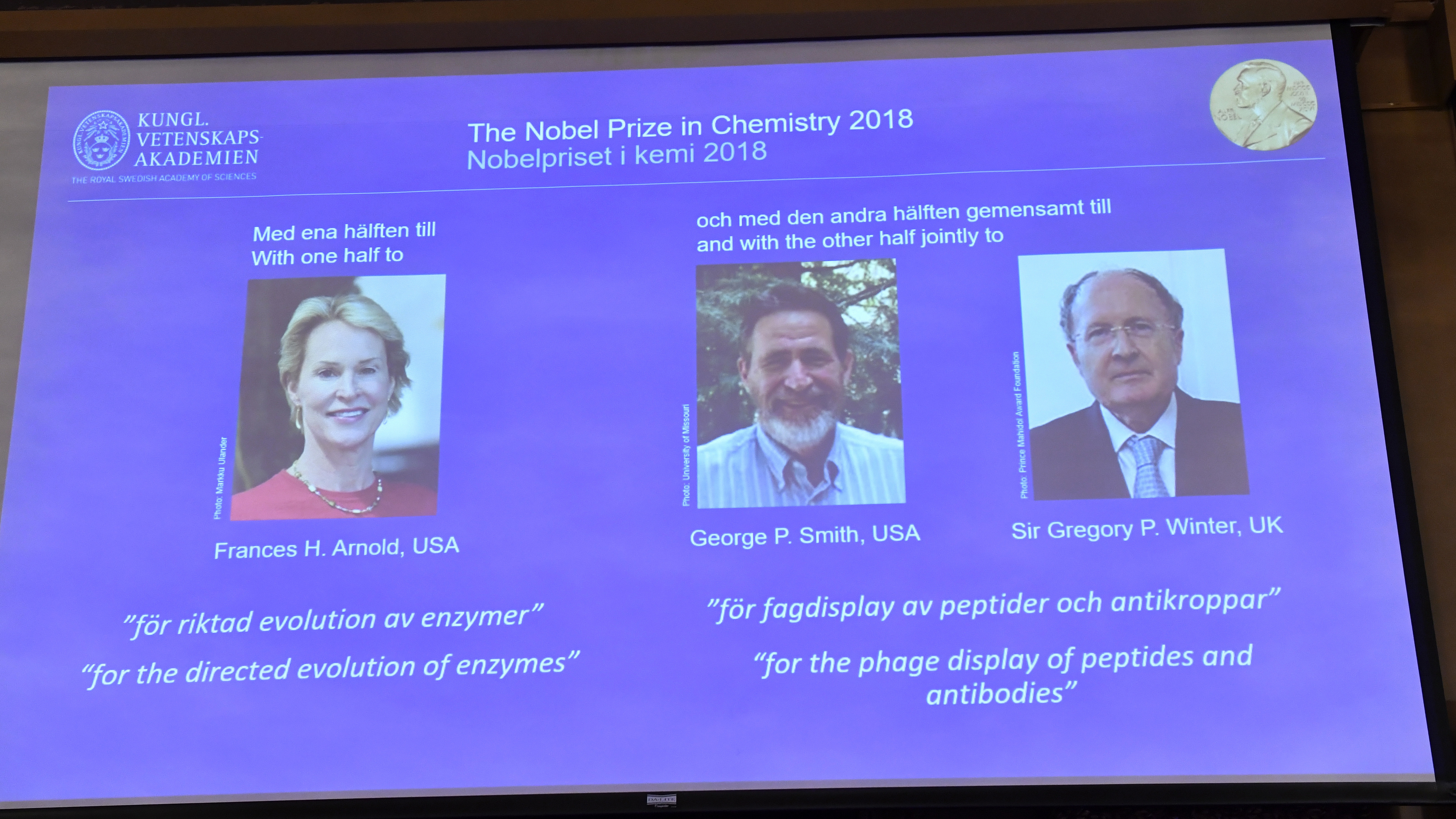 Chemistry Nobel awarded for groundbreaking research on proteins