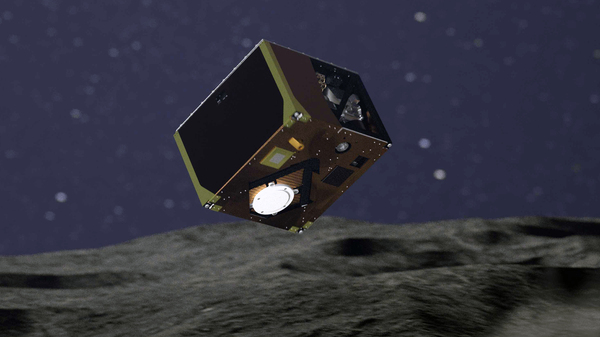 Roughly the size of a shoebox, the Mascot lander safely settled onto the surface of the Ryugu asteroid. It