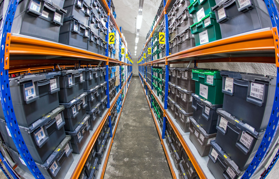 The Svalbard Global Seed Vault, in Norway, preserves plant seeds in cold storage. What about doing the same for helpful bacteria, ask researchers in a new paper. (Jens Büttner/Getty Image)