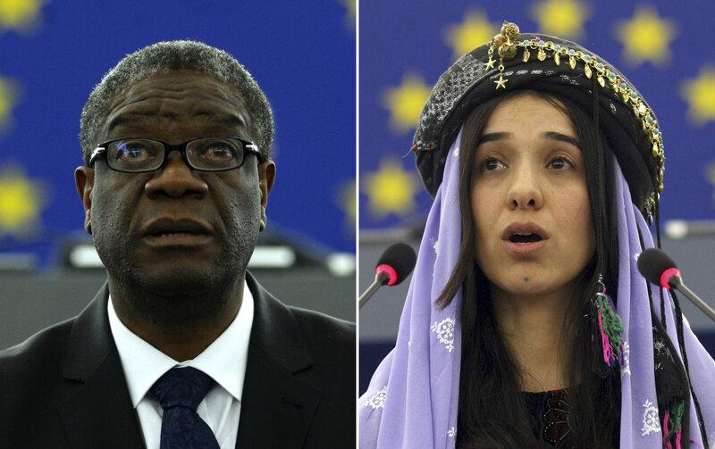 Nobel Peace Prize Goes To Denis Mukwege And Nadia Murad For ...