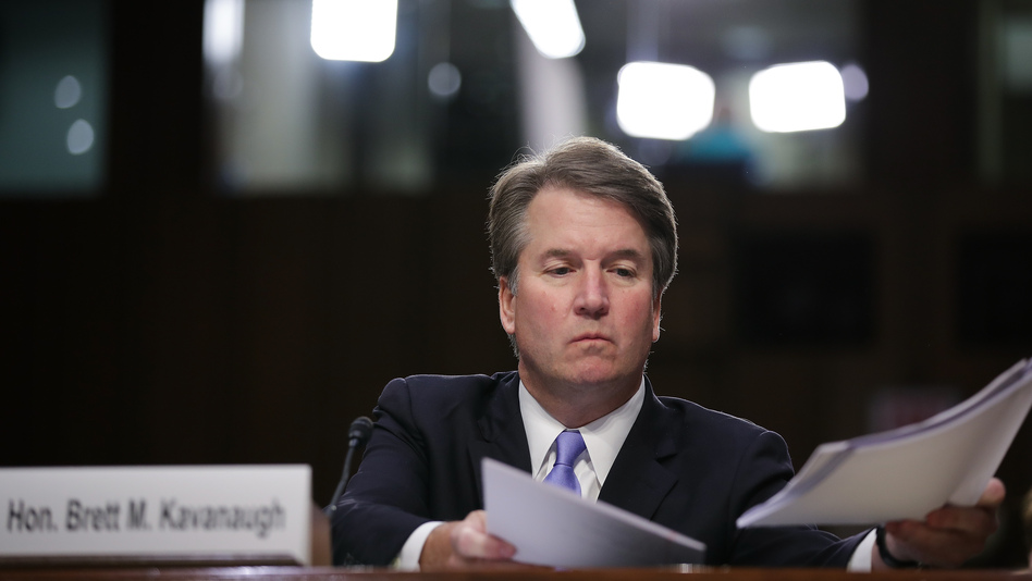 Brett Kavanaugh, seen here during his confirmation hearing early last month, has served on the D.C. Circuit Court of Appeals for 12 years. His tenure there offers some clues to how he'll handle the most controversial questions before the Supreme Court. (Drew Angerer/Getty Images)
