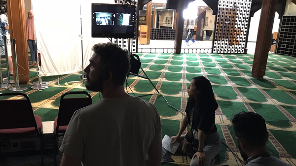 On the set of East of La Brea at the Islamic Center of Southern California. The web series, which focuses on two Muslim-American women, is one of a new crop of shows featuring Muslim characters.