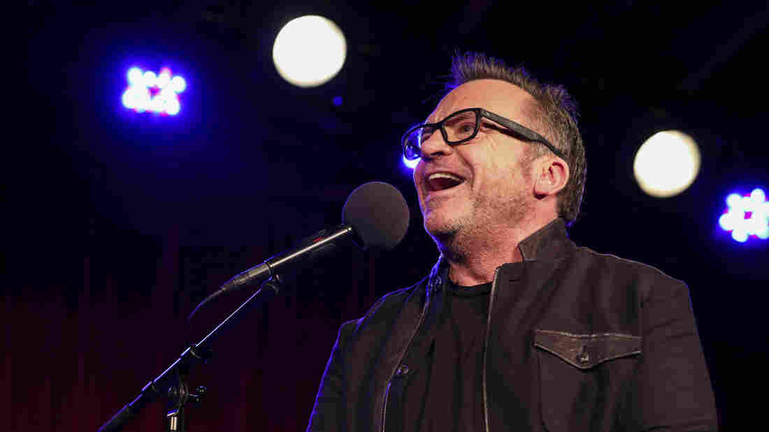 Tom Arnold appears on Ask Me Another at the Bell House in Brooklyn, New York.