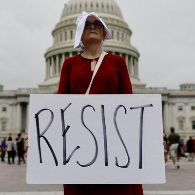 Demonstrators Gather At U.S. Capitol While Senate Confirms Kavanaugh