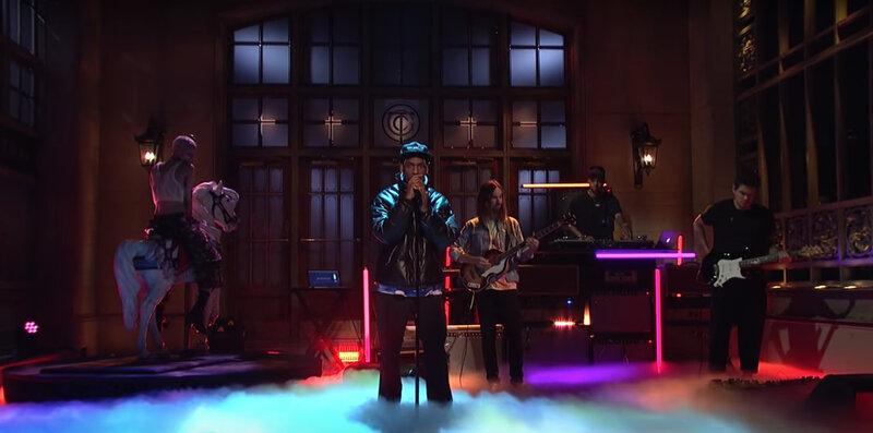 183082bfbc4d Travis Scott Recruits Tame Impala And John Mayer For 'SNL'. Facebook;  Twitter; Flipboard