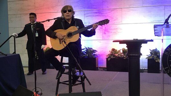 Jose Feliciano performs in Washington DC in June 2018