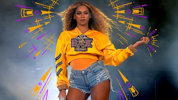 Beyoncé performs at Coachella in 2018.