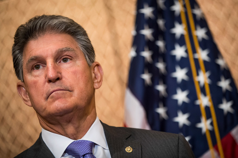 As Sen. Joe Manchin, a Democrat from West Virginia, campaigns for re-election, he has warned that 800,000 West Virginians with pre-existing conditions could lose health coverage. (Drew Angerer/Getty Images)