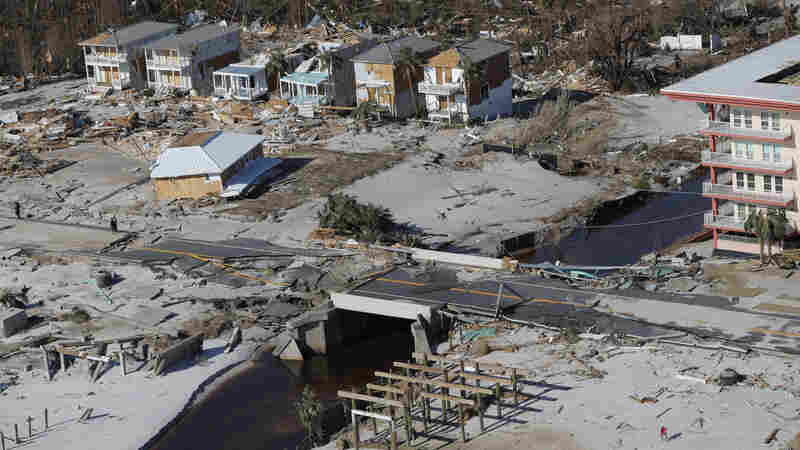 Wreckage Left By Hurricane Michael Slows Relief Efforts