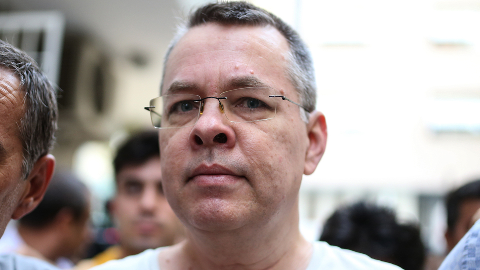 Andrew Brunson, shown here in July, was one of thousands arrested in Turkey after a failed coup attempt in 2016.