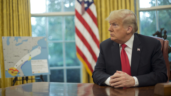 President Trump in the Oval Office of the White House earlier this month.