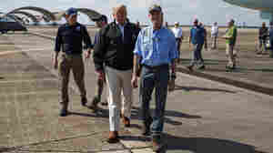 Trump Visits Areas Slammed By Hurricane Michael