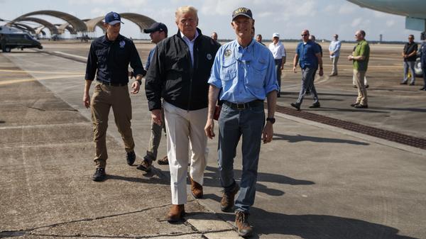 Trump Visits Areas Slammed By Hurricane Michael