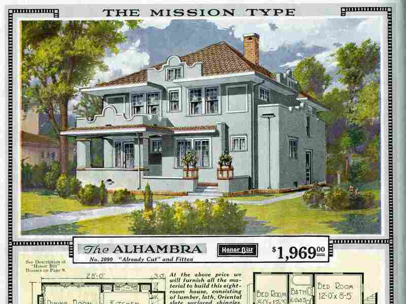 The Sears catalog home model Alhambra. This model was first offered in 1918.
