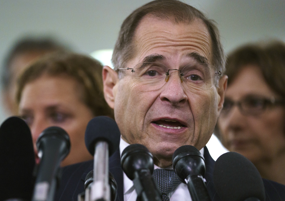 """Democratic leaders including Rep. Jerry Nadler of New York faulted the White House on Wednesday for what they called """"irresponsible"""" lumping of dissimilar Chinese and Russian influence schemes. (Carolyn Kaster/AP)"""