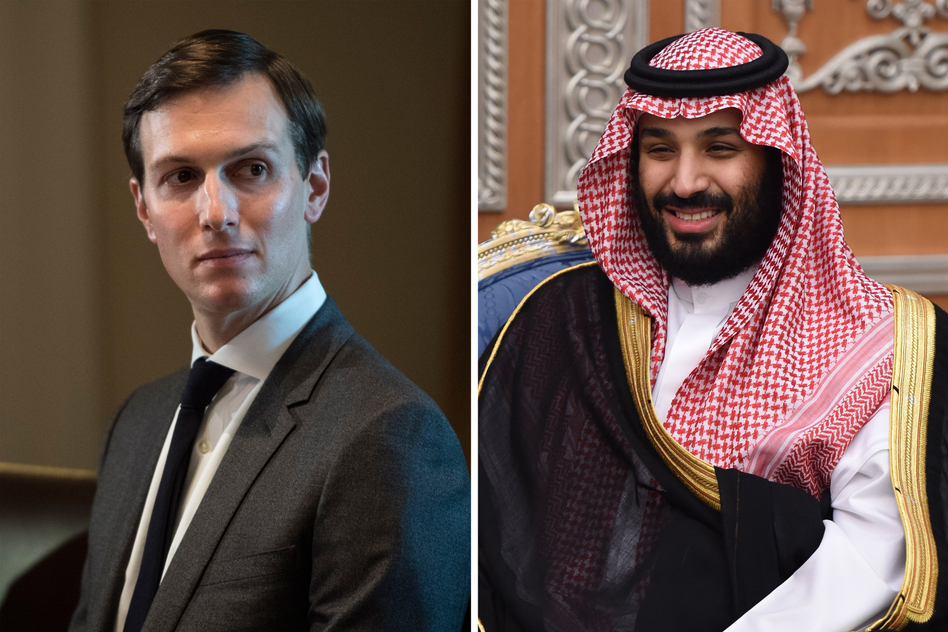 White House senior adviser Jared Kushner and Saudi Crown Prince Mohammed bin Salman have reportedly forged close ties focused on the Middle East peace process. (Jabin Botsford/The Washington Post; Fayez Nureldine/AFP/Getty Images)
