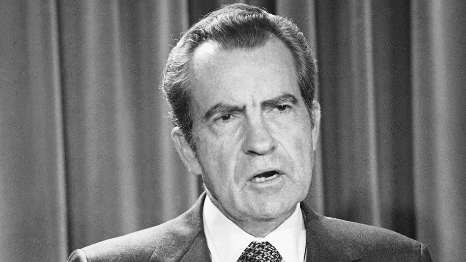 President Nixon 45 years ago precipitated the departure of the attorney general, deputy attorney general and Watergate special prosecutor as the criminal investigation of his administration escalated. (Henry Burroughs/AP)