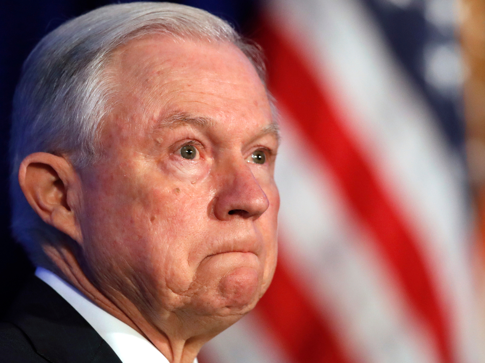 """In May, Attorney General Jeff Sessions ordered a """"zero tolerance"""" policy aimed at people entering the United States illegally for the first time on the Mexican border. Over 1,000 immigrant detainees were housed in five federal prisons across the West. (Jacquelyn Martin/AP)"""