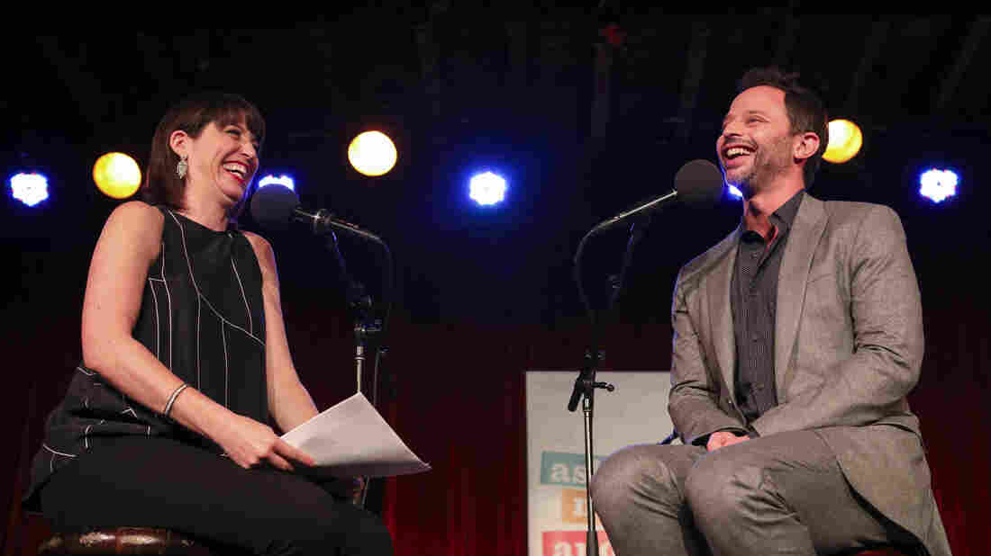 Ophira Eisenberg chats with Nick Kroll on Ask Me Another at the Bell House in Brooklyn, New York.
