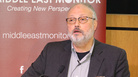 Saudi journalist Jamal Khashoggi, pictured speaking at an event in September, died after a fight broke out in the Saudi Arabian Consulate in Istanbul earlier this month, according to Saudi state TV.
