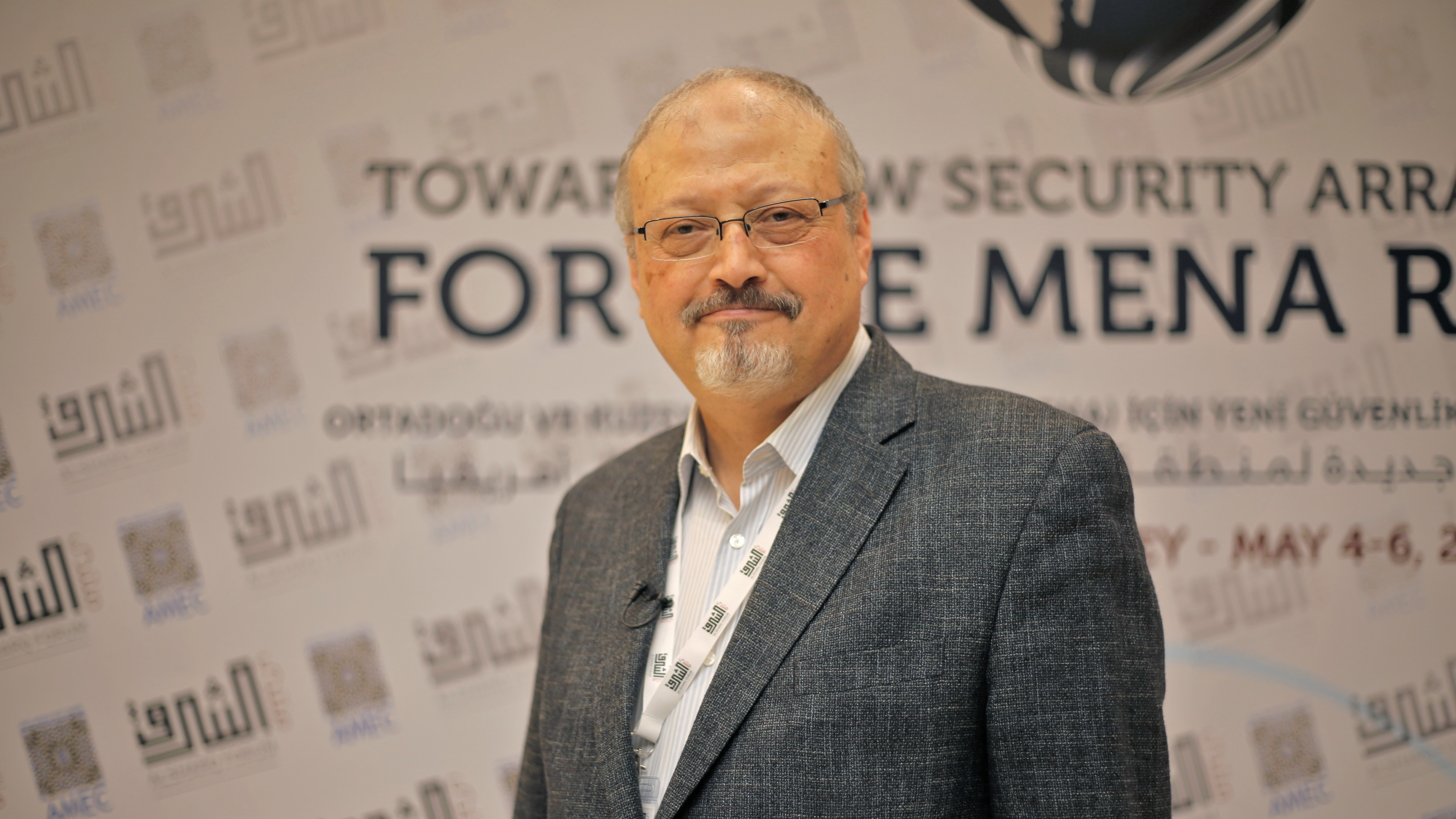 Journalist Jamal Khashoggi poses at an event in Istanbul, Turkey in a photo dated May 6, 2018. Saudi state media confirmed Khashoggi's death, but details remain fuzzy.