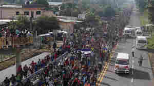Thousands Swell Ranks Of U.S.-Bound Migrant Caravan In Mexico